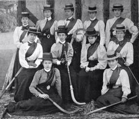 1899 Aldershot Ladies Hockey Team